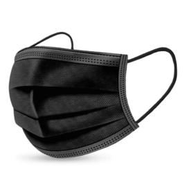 Fekete védőmaszk 3 rétegű