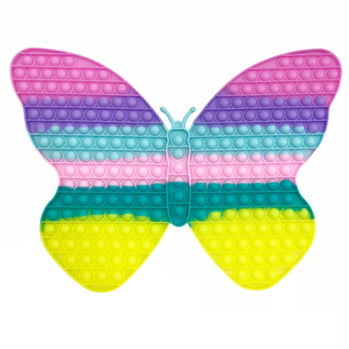 Pop It stresszoldó játék makarón (pillangó, 47×33cm)