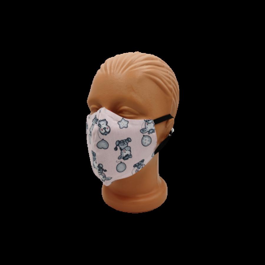Gyerek maszk 2 rétegű textil szájmaszk, mosható maszk