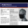Kép 2/3 - PORTWEST 2 rétegű antimikrobiális arcmaszk FEKETE
